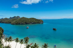 Landscape Bird Eye View of Angthong National Marin Royalty Free Stock Photo