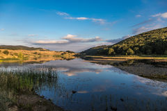 Landscape of Biviere lake with views of Etna Royalty Free Stock Photo