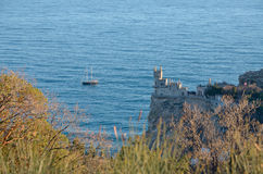 Landscape on the Black sea coast in the Crimea in Yalta Stock Photo