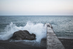 Landscape of the Black Sea in Crimea Royalty Free Stock Photography