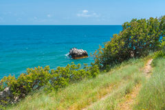 Landscape on a Black Sea shore in Cape Martyan Reserve Royalty Free Stock Image