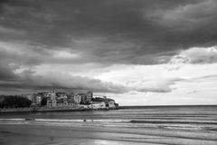 Landscape in black and white 2 Royalty Free Stock Images