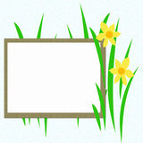 Landscape blank sign Stock Images