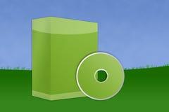Landscape Blank Software Box Stock Image