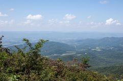 Landscape in the Blue Ridge Mountains royalty free stock photography