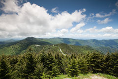 Landscape Blue Ridge Mountains Mt Mitchell NC royalty free stock images