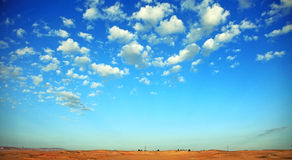 Landscape of blue sky. Finest landscape of blue sky with clouds during the day Royalty Free Stock Photos