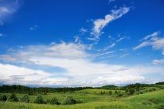 Landscape, blue sky Stock Images