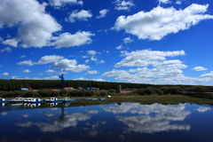 landscape of blue sky cloud Stock Image