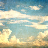 Landscape of Blue sky with clouds Stock Photography