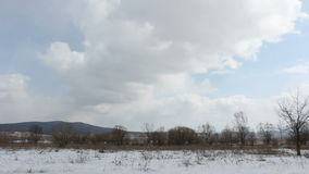 Landscape, blue sky with clouds timelapse stock video footage