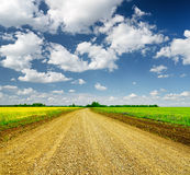 Blue sky and ground road Royalty Free Stock Photography