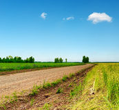 Blue sky and ground road Royalty Free Stock Images