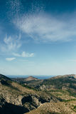 Landscape. Blue sky and landscape mountains in Spain Stock Photography