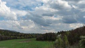 Landscape, blue sky stock footage