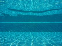 Landscape blue underwater in swimming pool Stock Image