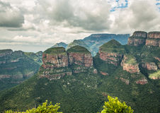 Landscape at the Blyde River Canyon, Viewpoint Three Rondavels Stock Photography