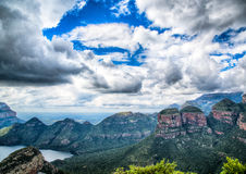 Landscape at the Blyde River Canyon, Viewpoint Three Rondavels Stock Image