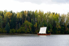 Landscape with a boat Royalty Free Stock Photos