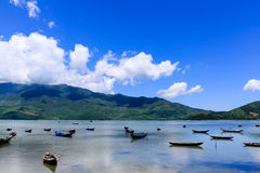 Landscape with boat royalty free stock photo