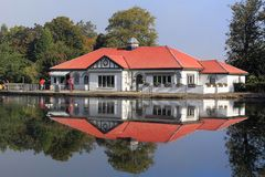 Landscape  the boathouse rouken glen park glasgow Royalty Free Stock Images