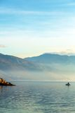 Landscape with boats and sea Royalty Free Stock Photo