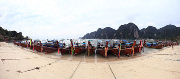 Landscape with boats at Thailand Royalty Free Stock Image