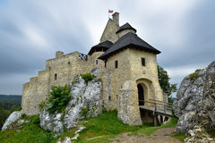 Landscape of Bobolice castle in Poland. Landscape of architecture Bobolice castle in Poland Stock Photography