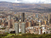 Landscape of Bogota, Colombia. BOGOTA, COLOMBIA - SEPTEMBER 28: Buildings in the downtowm of the city on September 28, 2013 in Bogota, Colombia Stock Images