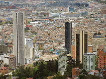 Landscape of Bogota, Colombia. BOGOTA, COLOMBIA - SEPTEMBER 28: Buildings in the downtowm of the city on September 28, 2013 in Bogota, Colombia Royalty Free Stock Image