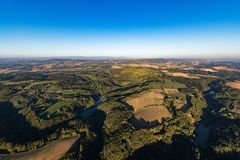 Beautifu czech autumn landscape on aerial photography stock images