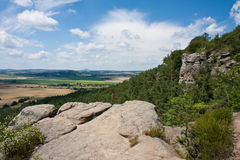 Landscape in Bohemian paradise, Czech republic Royalty Free Stock Photos