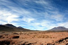 Landscape in bolivia Royalty Free Stock Images