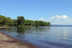 Landscape of Bolsena Lake, Viterbo Royalty Free Stock Images