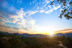 Landscape on the border of Northern Thailand and Burma. Royalty Free Stock Images