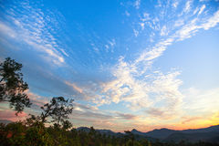 Landscape on the border of Northern Thailand and Myanmar. Stock Images