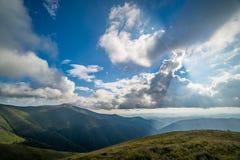 Landscape of Borzhava ridge of the Ukrainian Carpathian Mountains stock photos
