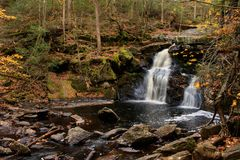 Bottom tier of Enders Falls in Enders State Forest Royalty Free Stock Image