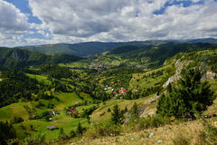 Landscape of the Bran - Moeciu region from Romania Royalty Free Stock Photography