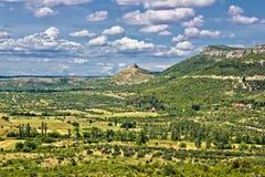 Landscape of Bribir area in Croatia Royalty Free Stock Photo
