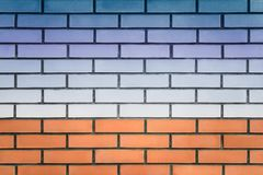 Landscape on a brick wall royalty free stock photography