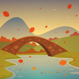 Landscape with bridge Royalty Free Stock Photography