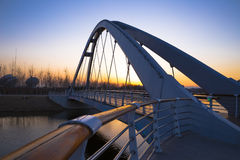 Landscape Bridge. A landscape bridge cross the river stock photography