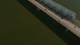 Landscape of bridge over Don river. stock footage