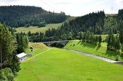Landscape and bridge , Slovakia, Europe Royalty Free Stock Photos