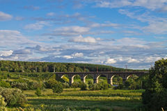 Landscape with the bridge Royalty Free Stock Photos