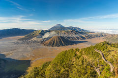 Landscape of Bromo mountain. Indonesia Royalty Free Stock Photo