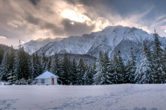 Landscape of Bucegi Mountains Stock Photo