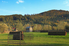 Landscape in Bucovina,Romania. Landscape in a rural area from Bucovina in Romania Stock Photo