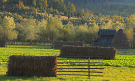 Landscape in Bucovina,Romania. Landscape in a rural area from Bucovina in Romania Royalty Free Stock Image